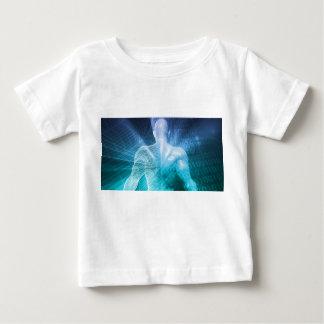 Camiseta Para Bebê Surfando a Web ou o Internet como um conceito de