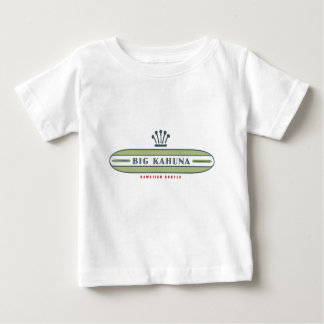 Camiseta Para Bebê Surfista reto grande de Kahuna HI