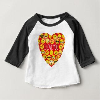 Camiseta Para Bebê Surpreendendo eu te amo o presente de Emoji