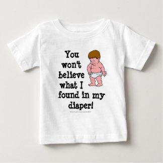 Camiseta Para Bebê Surpresa da fralda