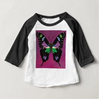 Camiseta Para Bebê Swallowtail manchado roxo