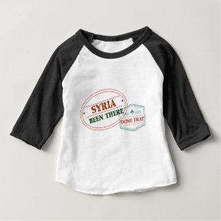 Camiseta Para Bebê Syria feito lá isso