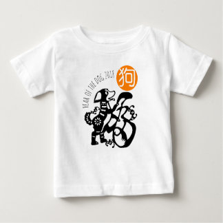 Camiseta Para Bebê T 2018 chinês do bebê do ano novo de Papercut do