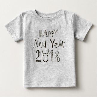 Camiseta Para Bebê T 2018 do bebê do feliz ano novo