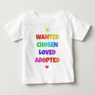 Camiseta Para Bebê T adotado amado escolhido querido do partido do