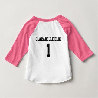 Camiseta Para Bebê T azul do basebol de ClaraBelle - BEBÊ