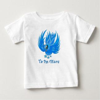 Camiseta Para Bebê T azul do passarinho