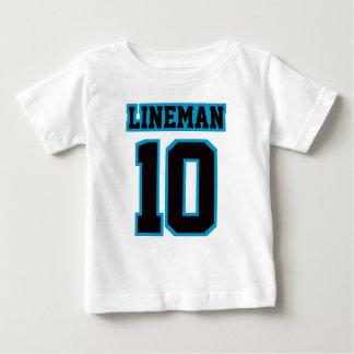 Camiseta Para Bebê T AZUL PRETO BRANCO dianteiro de Crewneck do