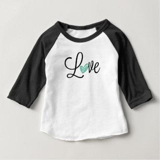 Camiseta Para Bebê T bonito do basebol do bebê do amor
