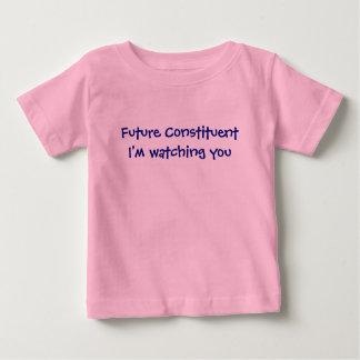 Camiseta Para Bebê T constitutivo futuro do bebê