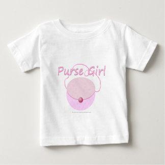 Camiseta Para Bebê T cor-de-rosa da criança da menina da bolsa