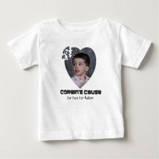 Camiseta Para Bebê T da criança da causa de Corbin