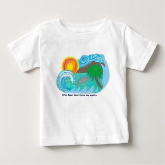 Camiseta Para Bebê T da praia do LA do bebê