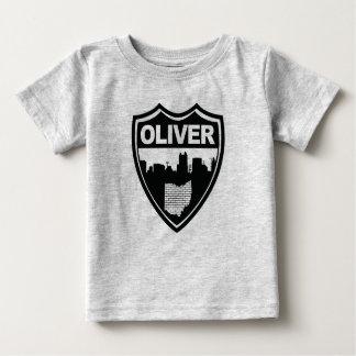 Camiseta Para Bebê T da skyline de Oliver