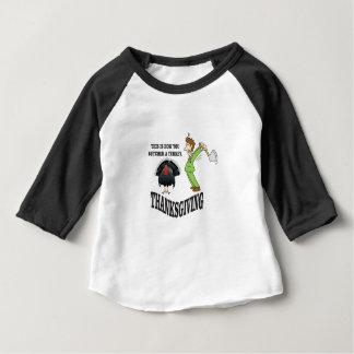 Camiseta Para Bebê t-dia do peru do carniceiro