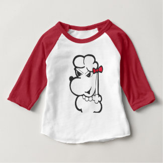 Camiseta Para Bebê T do basebol da menina da criança do CAT & do