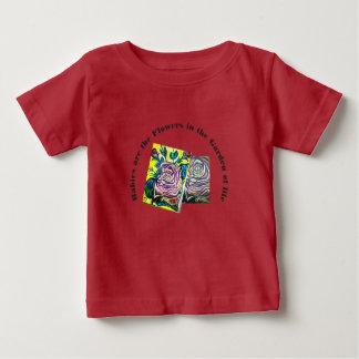 Camiseta Para Bebê T do bebê da flor