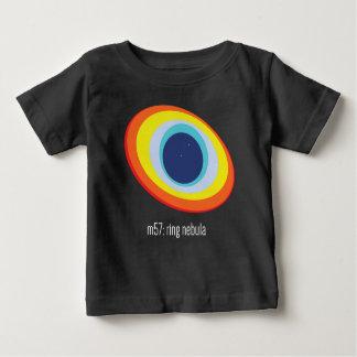Camiseta Para Bebê T do bebê da nebulosa do anel