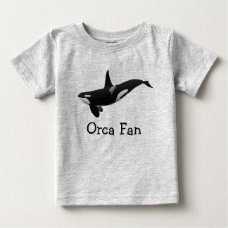 Camiseta Para Bebê T do bebê da orca da natação