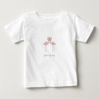 Camiseta Para Bebê T do flamingo de Cutie