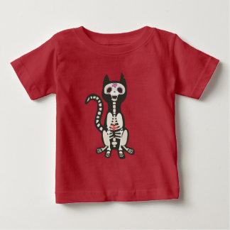 Camiseta Para Bebê T do gatinho da morte