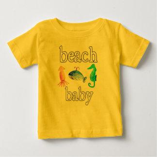 Camiseta Para Bebê T do oceano do verão das criaturas do mar do bebê
