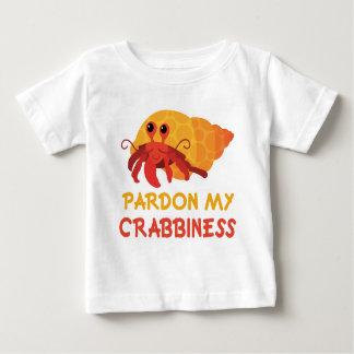 Camiseta Para Bebê T engraçado do caranguejo de eremita dos desenhos