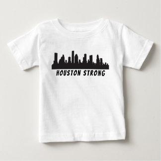 Camiseta Para Bebê T forte do bebê da skyline de Houston