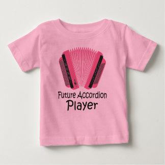 Camiseta Para Bebê T futuro bonito do bebê do jogador do acordeão