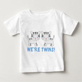 Camiseta Para Bebê T gêmeo do bebê do tigre da selva do menino