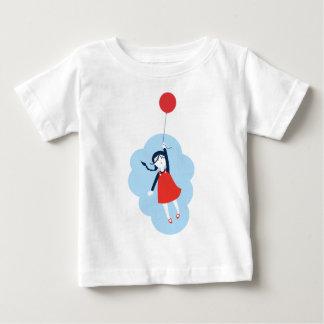 Camiseta Para Bebê T gráfico bonito da menina & do balão vermelho