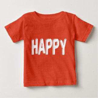 Camiseta Para Bebê T GRÁFICO inspirado FELIZ