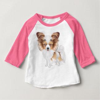 Camiseta Para Bebê T-Merda adorável do Raglan do roupa 3-4-Sleeve de