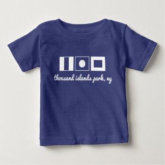 Camiseta Para Bebê T náutico da bandeira - as ilhas do Tip mil