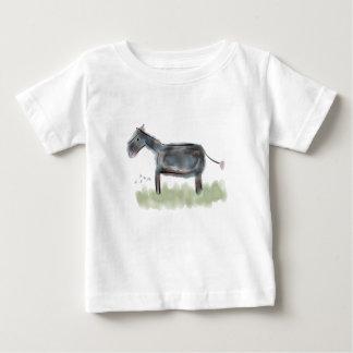 Camiseta Para Bebê T pequeno feliz do asno