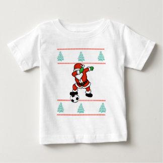 Camiseta Para Bebê T-shirt 2018 feio do Natal da solha do futebol de