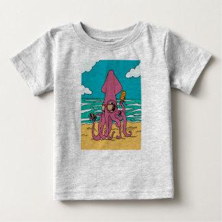 Camiseta Para Bebê T-shirt 4 do calamar de Bro