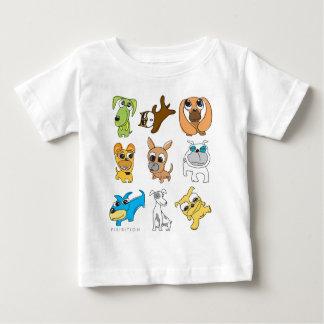 Camiseta Para Bebê T-shirt adorável da criança dos cães