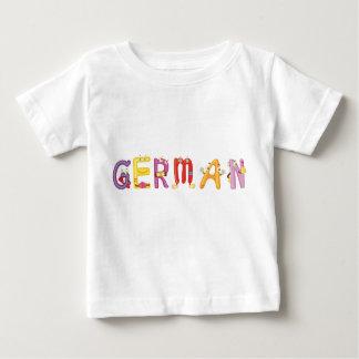 Camiseta Para Bebê T-shirt alemão do bebê