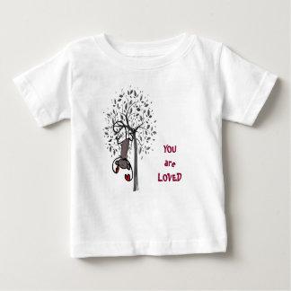 Camiseta Para Bebê T-shirt amado terra do jérsei da multa do bebê do