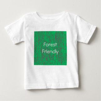 Camiseta Para Bebê T-shirt amigável do jérsei da floresta