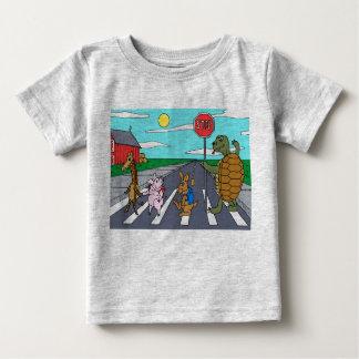 Camiseta Para Bebê T-shirt animal 4 da faixa de travessia