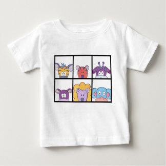 Camiseta Para Bebê T-shirt animal bonito do bebê