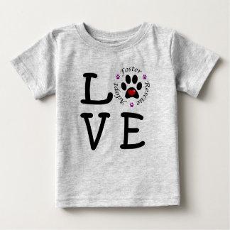 Camiseta Para Bebê T-shirt animal do jérsei da multa do bebê do amor