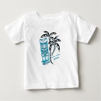 Camiseta Para Bebê T-shirt bebé branco palmas tiki