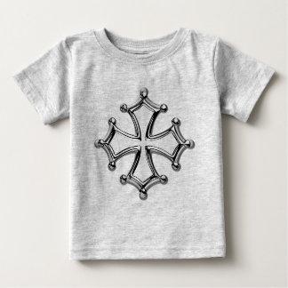 Camiseta Para Bebê T-shirt bebé cinzento claramente Cruzes occitane