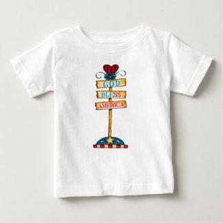 """Camiseta Para Bebê T-shirt bebê de América dos deus abençoe do """""""