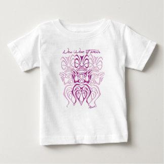 Camiseta Para Bebê T-shirt bebé rapariga branco 3 tiki