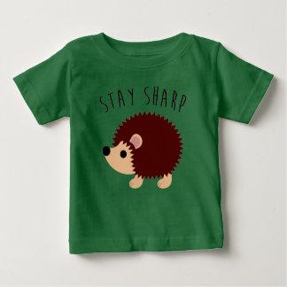 Camiseta Para Bebê T-shirt bonito do bebê do ouriço