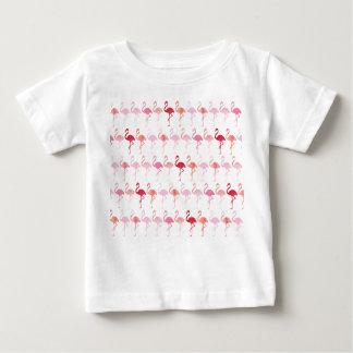 Camiseta Para Bebê T-shirt bonito do bebê do teste padrão do flamingo